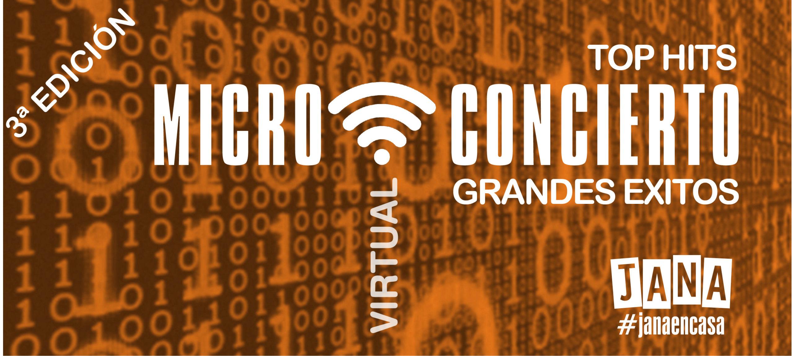 microconcierto virtual tercera edicion grandes exitos top hits cartel