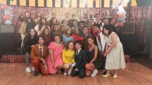 Los alumnos de la Escuela JANA en el rodaje de Abierto en vena de Taburete